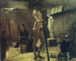 Henri Matisse. Model and artists in the Studio