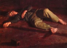 Иаков Коллинз. Лежащий мужчина