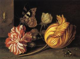 Балтазар ван дер Аст. Этюд с цветами и насекомыми