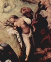 Пьеро ди Козимо. Персей освобождает Андромеду. Деталь: Андромеда