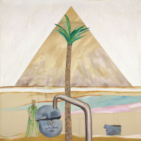 Дэвид Хокни. Великая пирамида в Гизе со сломанной головой из Фив