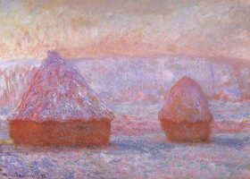 Claude Monet. Haystacks in Giverny. Morning effect