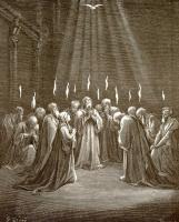 Поль Гюстав Доре. Иллюстрация к Библии: Сошествие Святого Духа