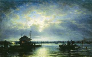 Alexey Petrovich Bogolyubov. Summer night on the Neva near the seaside
