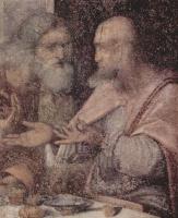 Леонардо да Винчи. Тайная вечеря, деталь