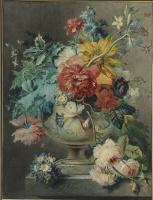 Георг Якоб Иоганн ван Ос. Натюрморт с цветами в урне