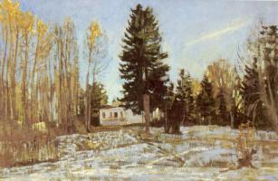 Станислав Юлианович Жуковский. Старая усадьба зимой