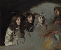 Антуан, Луи и Матье Ленен. Трое мужчин и мальчик