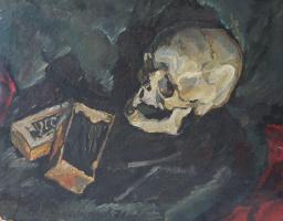 Виктор Петрович Жураковский. Натюрморт с черепом.
