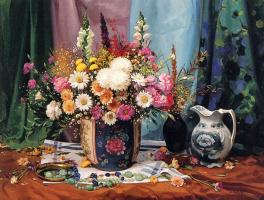 Умберто Бруни. Натюрморт с цветами