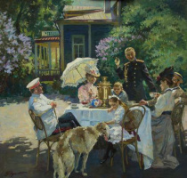 Владимир Сергеевич Первунинский. На даче.
