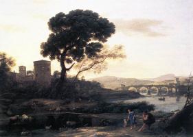 Клод Лоррен. Пейзаж с пастухами Понт Молле