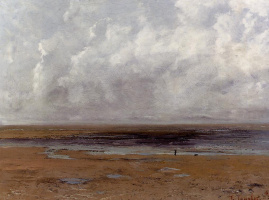 Гюстав Курбе. Пляж в Трувиль во время отлива