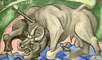 Пабло Пикассо. Умирающий бык