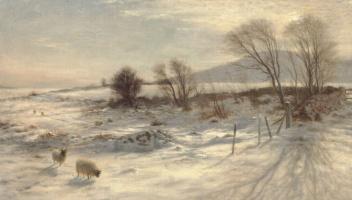 Иосиф Фарквхарсон. Снег на пастбище