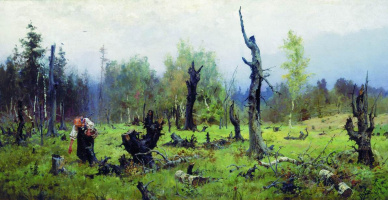 Vasily Dmitrievich Polenov. Burnt forest