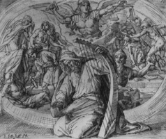 Юлиус Шнорр фон Карольсфельд. Давид на молитве