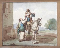 Бартоломео Пинелли. Buttero oblia Guardiano di Bovi, Roma 1816