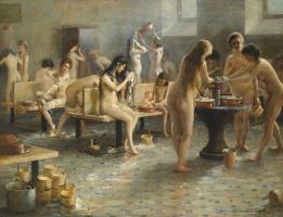 In the women's bath. 1897