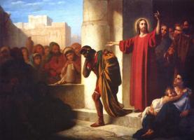 Федор Петрович Чумаков. Христос и богатый юноша. 1866-1867