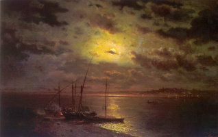 Lev Lvovich Kamenev. Moonlit night on the river