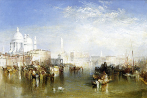 Joseph Mallord William Turner. View of Venice from the Giudecca canal, the Church of Santa Maria della Salute