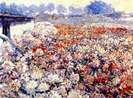 Unknown artist. Rhododendron fields