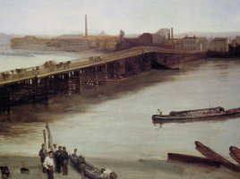 Джеймс Эббот Макнейл Уистлер. Коричневый и серебро: Старый мост Баттерси