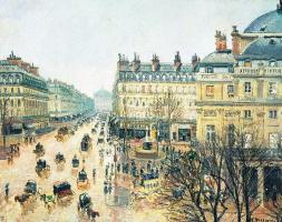 Opera passage, Paris in the rain