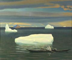 Рокуэлл Кент. Эскимос в каяке. Гренландия