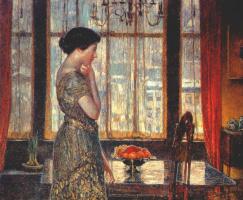 Childe Hassam. New York Winter Window