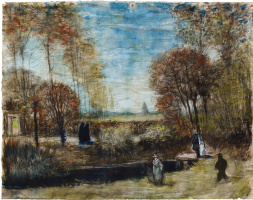 Винсент Ван Гог. Сад при церкви в Нюэнене