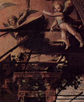 Доменико Беккафуми. Рождество, деталь: Ангел и архитектура