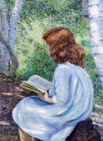 Лила Кэбот Перри. Читающая рыжая девочка