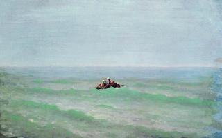 Архип Иванович Куинджи. Лодка в море. Крым