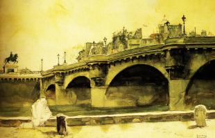 Норман Роквелл. Париж. Мост Де Неф