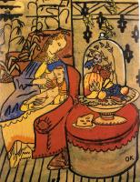 Oskar Kokoschka. A mother feeds her child