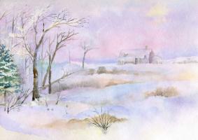 Smbat Arayevich Bagdasaryan. On a frosty day