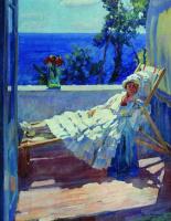 Сергей Арсеньевич Виноградов. Дама на балконе