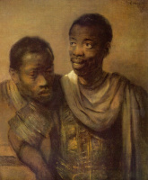 Рембрандт Харменс ван Рейн. Два молодых негра