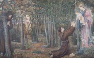 Мария Евфросина Спартали Стиллман. Как Дева явилась брату Конраду в Оффии и вложила своё Дитя ему в руки