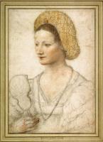Бернардино Луини. Портрет младой женщины с веером, Вена