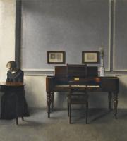 Вильгельм Хаммерсхёй. Ида в интерьере с пианино