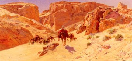 Евгений-Алексис Жирар. Караван в пустыне