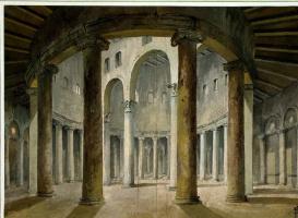 Шарль-Луи Клериссо. Интерьер церкви Сан Стефано Ротондо в Риме