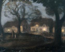 Деревня Грин ночью