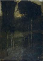Ричард Эдвард Миллер. Лесной пейзаж. Написано в 1901