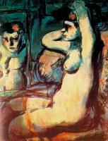 Жорж Руо. Сидящая обнаженная женщина в чулках