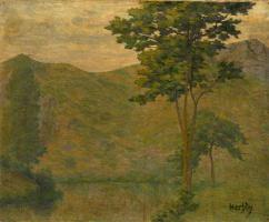 Огюст Эрбен. Зеленый пейзаж