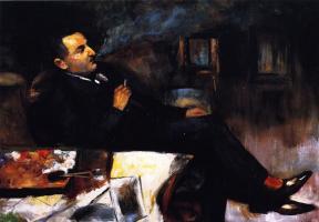 Lesser Uri. Lesser URY (Smoking in his Studio)